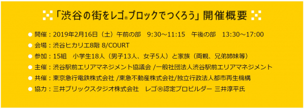 「渋谷の街をレゴ ブロックでつくろう」開催概要