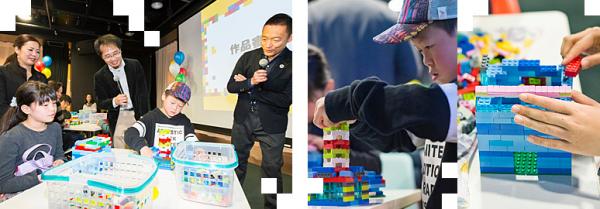 2班は男の子が「変身する建物」を、女の子が「テラスのあるビル」を制作。