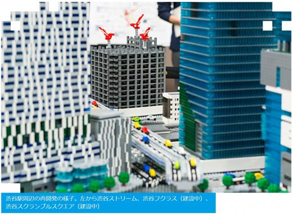 渋谷駅周辺の再開発の様子