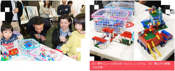 5班は、「渋谷にもっと文化施設がほしい」という女の子が「野外ミュージカルホールとミュージアム」を制作。
